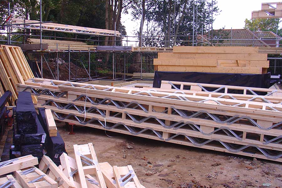 Timber Frame construction for new build house