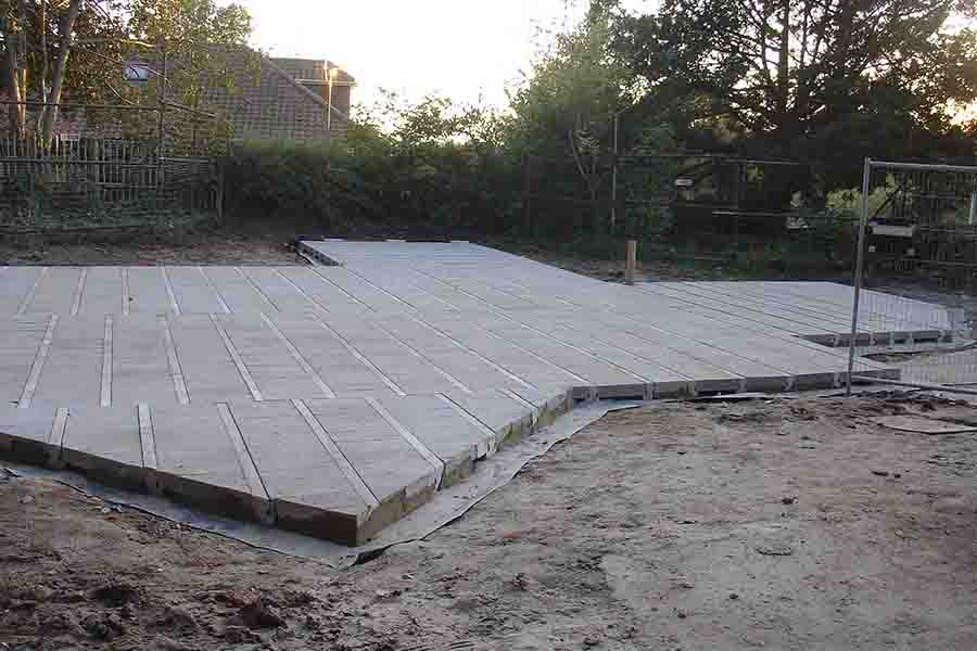 Suspended concrete ready for Timber Frame Norwcih